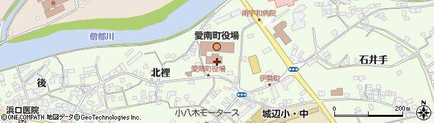 愛媛県南宇和郡愛南町周辺の地図