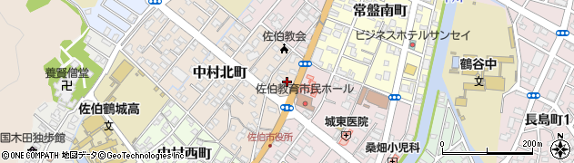 大分県佐伯市中村北町10周辺の地図