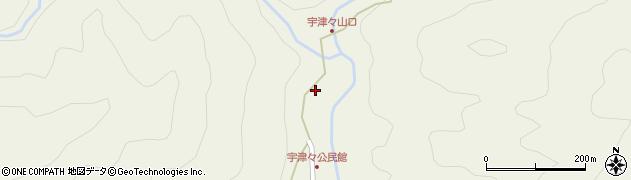 大分県佐伯市本匠大字宇津々777周辺の地図