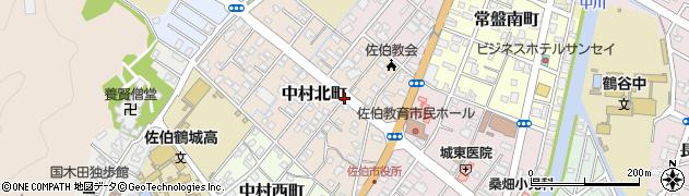 大分県佐伯市中村北町9周辺の地図