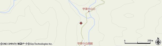 大分県佐伯市本匠大字宇津々785周辺の地図