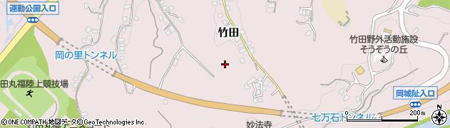 大分県竹田市竹田久戸周辺の地図