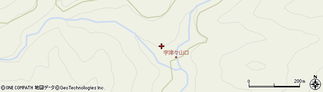 大分県佐伯市本匠大字宇津々866周辺の地図