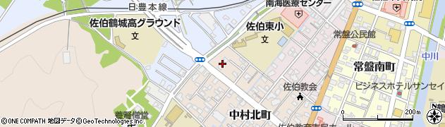 大分県佐伯市中村北町6周辺の地図