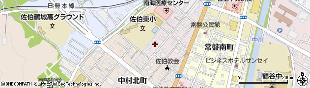 大分県佐伯市常盤西町周辺の地図