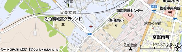 大分県佐伯市臼坪24周辺の地図