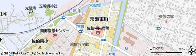 大分県佐伯市常盤東町6周辺の地図