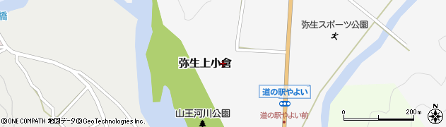 大分県佐伯市弥生大字上小倉711周辺の地図