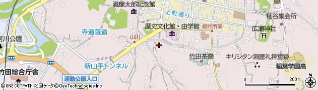 大分県竹田市竹田溝川周辺の地図