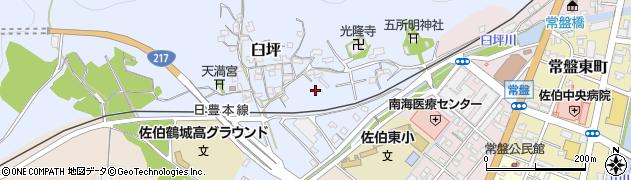 大分県佐伯市臼坪16周辺の地図