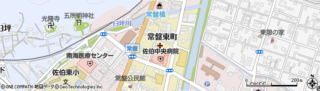 大分県佐伯市常盤東町周辺の地図