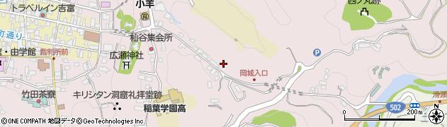 大分県竹田市竹田岡城通周辺の地図