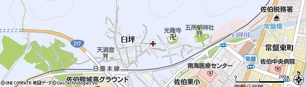 大分県佐伯市臼坪15周辺の地図