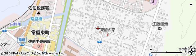 大分県佐伯市東町周辺の地図