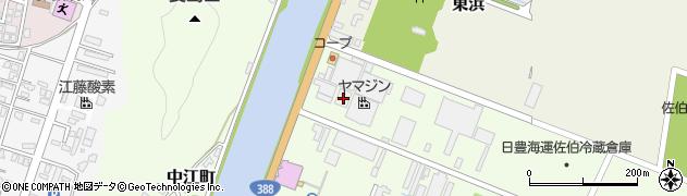 大分県佐伯市西浜周辺の地図