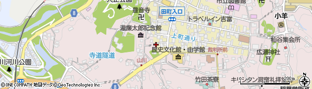 大分県竹田市竹田町上本町周辺の地図