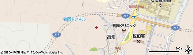 大分県佐伯市鶴望高畑区周辺の地図