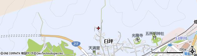 大分県佐伯市臼坪10周辺の地図
