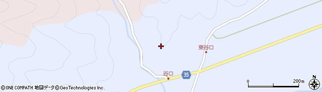 大分県佐伯市弥生大字山梨子谷口周辺の地図
