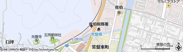 大分県佐伯市蟹田2周辺の地図