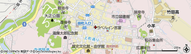 大分県竹田市竹田町新町周辺の地図