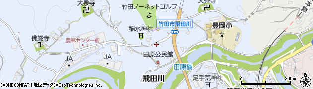 大分県竹田市飛田川1876周辺の地図