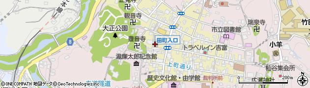 大分県竹田市竹田町本町周辺の地図