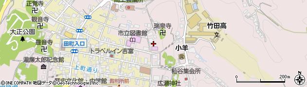大分県竹田市竹田向町周辺の地図