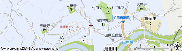 大分県竹田市飛田川2005周辺の地図