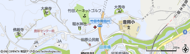 大分県竹田市飛田川1875周辺の地図