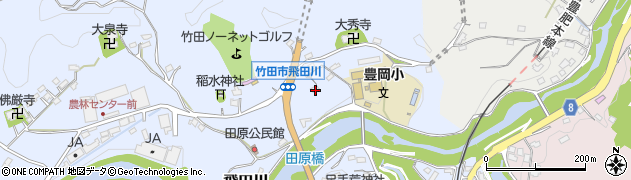 大分県竹田市飛田川1852周辺の地図