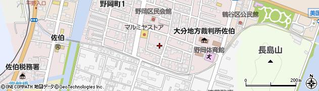 大分県佐伯市野岡町野岡区周辺の地図