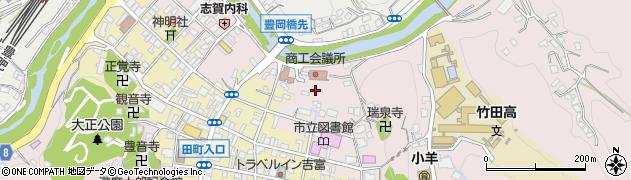 大分県竹田市竹田代官町周辺の地図