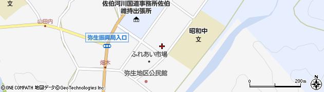大分県佐伯市弥生大字上小倉1201周辺の地図