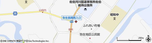 大分県佐伯市弥生大字上小倉1175周辺の地図