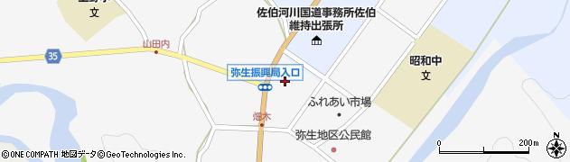 大分県佐伯市弥生大字上小倉1175-4周辺の地図
