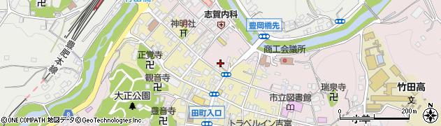 大分県竹田市竹田東本町周辺の地図
