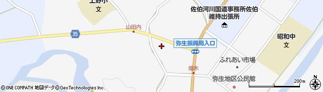 大分県佐伯市弥生大字上小倉652周辺の地図
