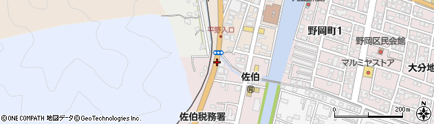大分県佐伯市蟹田4周辺の地図