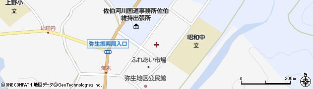 大分県佐伯市弥生大字上小倉1196周辺の地図