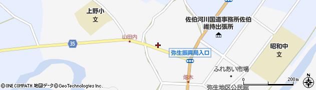 大分県佐伯市弥生大字上小倉629周辺の地図