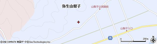 大分県佐伯市弥生大字山梨子1332周辺の地図