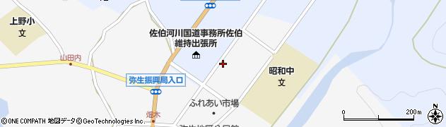 大分県佐伯市弥生大字上小倉1206周辺の地図