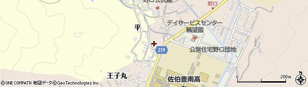 大分県佐伯市鶴望2960周辺の地図