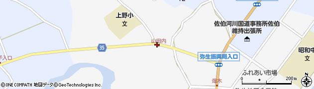 大分県佐伯市弥生大字上小倉508周辺の地図