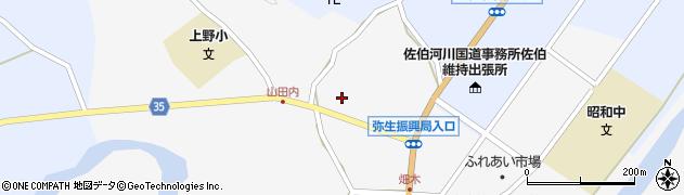 大分県佐伯市弥生大字上小倉618周辺の地図