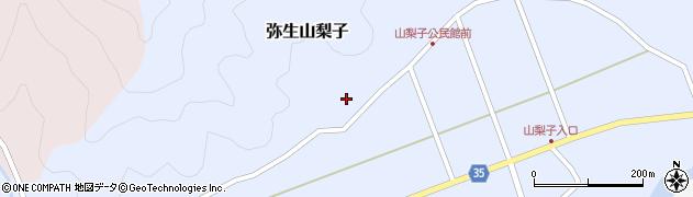 大分県佐伯市弥生大字山梨子1331周辺の地図