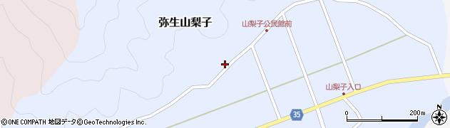 大分県佐伯市弥生大字山梨子1376周辺の地図