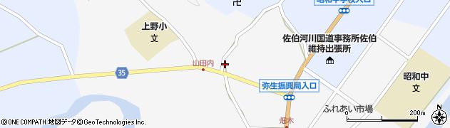 大分県佐伯市弥生大字上小倉632周辺の地図