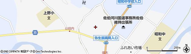 大分県佐伯市弥生大字上小倉607周辺の地図